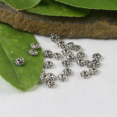 300pcs Tibetan Silver Gyrate Beads H0511