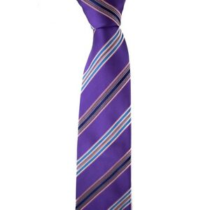 125-NWT-GALLIENI-Lilac-amp-Cotton-Pink-Striped-3-5-034-Woven-Silk-Cotton-Neck-Tie