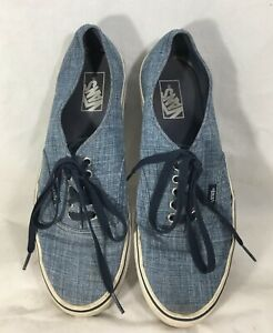 Vans-Mens-Size-10-TB8C-Shoes-Snickers-Off-the-Wall-Blue-White