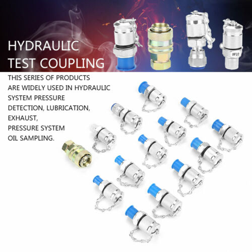 14x Hydraulic Pressure Test Point Testing Coupling Adapter Set for Hydraulic