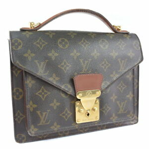 Louis-Vuitton-Monogram-Monceau-Business-Hand-Bag-Briefcase-M51185-Used