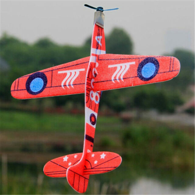 19cm Hand Throw Flying Glider Planes Foam Airplane Party Bag Fillers Kids WA