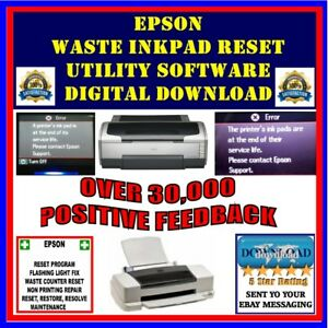 Details about Epson Stylus Printer Waste Ink Pad Counter Error Reset  Software DIGITAL DOWNLOAD