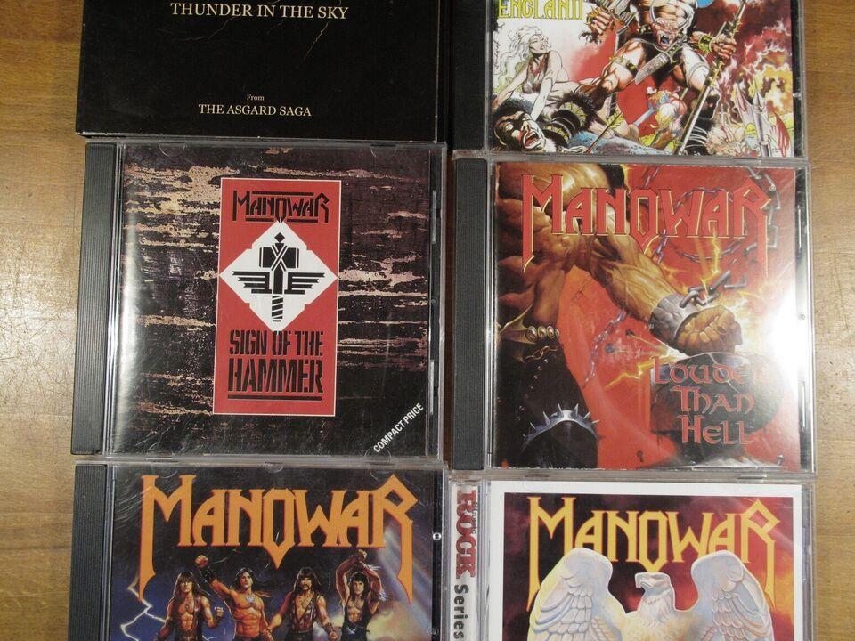 Manowar CD-lot (6 udgivelser, 7 CD'er): Thunder in The Sky,