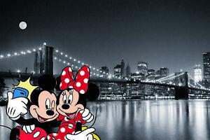 Disney Bilder Wandbild Keilrahmen Micky Maus / Minnie Maus Art ...