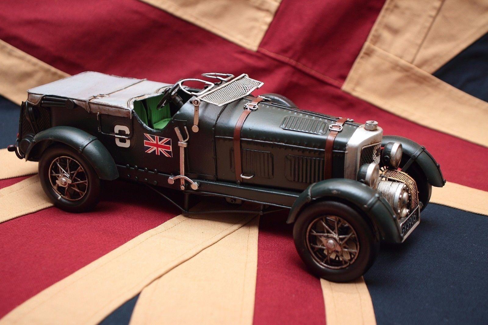 Bentley Estaño Juguete Hojalata Coche blechmodell Auto VOITURE en Tole hecho a mano