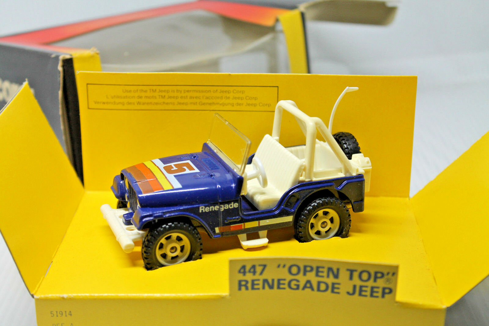 CORGI TOYS 447  Open Top Renegade  Neuf dans sa boîte  Comme neuf  1981