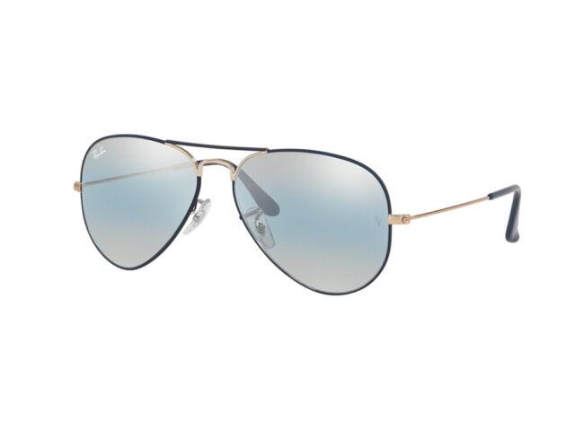 Gafas de sol Ray Ban Aviator azul espejo RB3025 metal 9156AJ