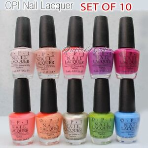 Image Is Loading Lot 10 X Opi Nail Lacquer Collection Choose