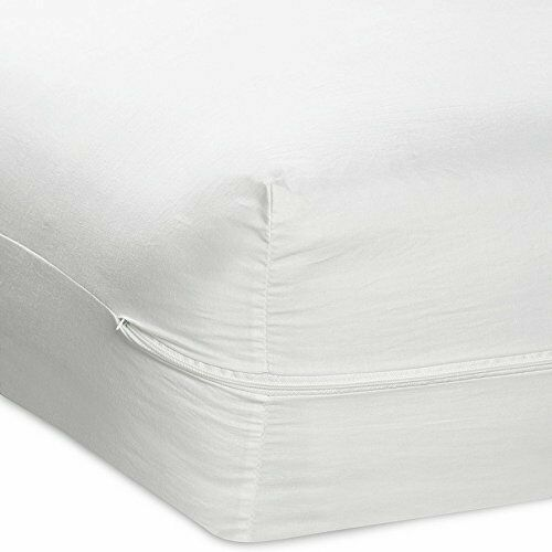Fabric Zippered Waterproof /& Bed Bug//Dust Mite Mattress Cover Protector