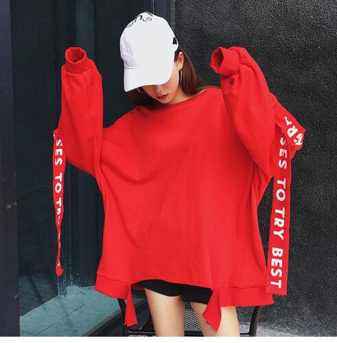 Autumn Korean Hooded Long Sleeve Sweater Women /'s Clothes Loose Hoodies Top Plus