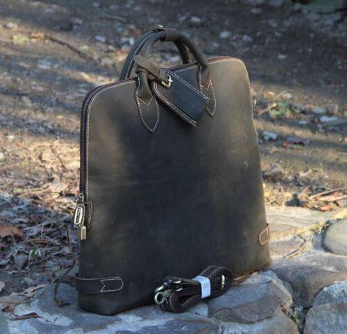 New Real Leather Men/'s Womens Briefcase Messenger Handbag shoulder bag Laptop