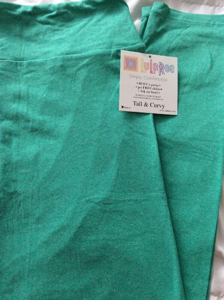 2ce1f7f9e096b Lularoe TC Tall Curvy Leggings Solid Seafoam Green Heathered Unicorn Pants  New