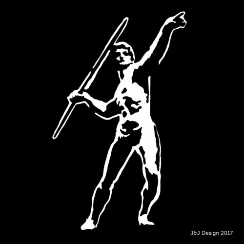 JAVELIN THROWER or DISCUS Track and Field Olympics Athlete Vinyl Sticker Decal