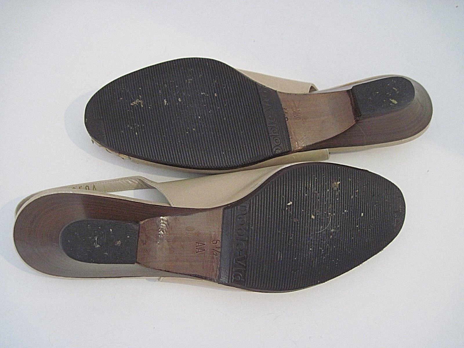 BRUNO MAGLI Beige Leder Patent Leder Slingbacks Heels Open Toe 6 1/2 AA