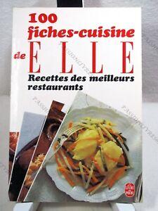 100 Fiches Cuisine De Elle - M. Maine & J. Pejan - F.e.p. - 1981 - Tbe* Facile à Utiliser