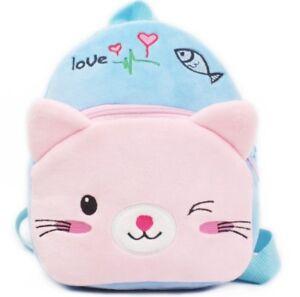Cat bear Kids Baby Boys Girls Backpacks Cartoon Pre-primary School ... 94756f7a2a54d