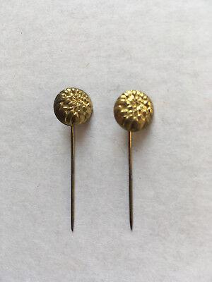 2 Anstecknadeln Goldfarben, Anlass Nicht Zuordenbar FüR Schnellen Versand