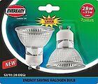 Eveready Lighting Gu10 Eco Halogen Bulb 240v 28 Watt (35 Watt) Card of 2