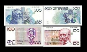 2x 100, 500 Francs - Edition ND 1978 - 1981 - Reproduction - B 03