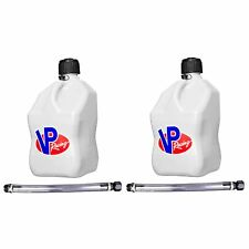 Vp Racing Fuels 5 Gal Motorsport Container White With 14 Standard Hose 2 Pack