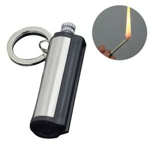 Steel Fire Starter Flint Match Lighter Keychain Camping Emergency