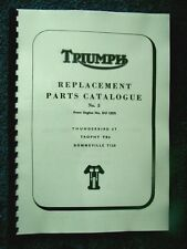 TRIUMPH  6T TR6 T120 PARTS BOOK MANUAL No.3 1965 - TP32