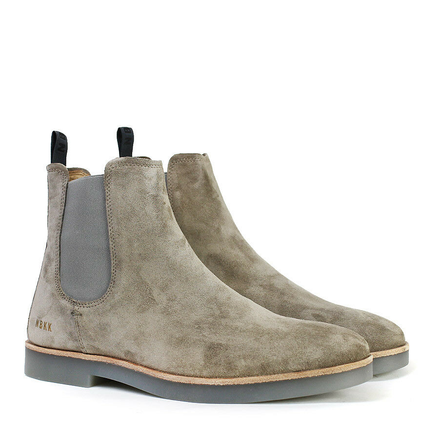 Nubikk - Logan II Chelsea Stiefel in Taupe Suede Suede Taupe - UK 6 - a89883