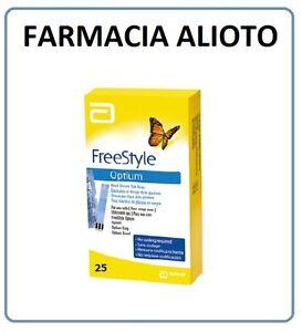 FREESTYLE OPTIUM 25 STRISCE PER IL TEST DELLA GLICEMIA