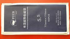 PCCB High Quality Paper Money Tools OPP Sleeves Bag 75mm x 170mm ( Size 5.5 )