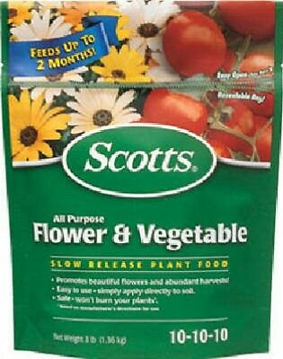 Scotts 3lb 10-10-10 Slow Release All Purpose Flower & Vegetable Food 1009001