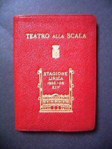 Calendario Teatro Alla Scala.Dettagli Su Teatro Alla Scala Calendario Per Gli Abbonati Stagione Lirica 1935 36 Curiosita
