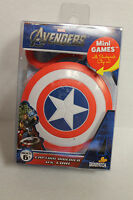 NEW THE AVENGERS CAPTAIN AMERICA VS LOKI MINI GAMES IN SHIELD CASE Toys