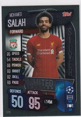 Match Attax 2019//20 MOHAMED SALAH Silver Limited Edition LE1S