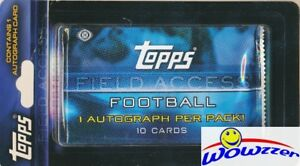 2015-Topps-Field-Access-NFL-Football-Factory-Sealed-HOBBY-Hanger-Pack-AUTOGRAPH