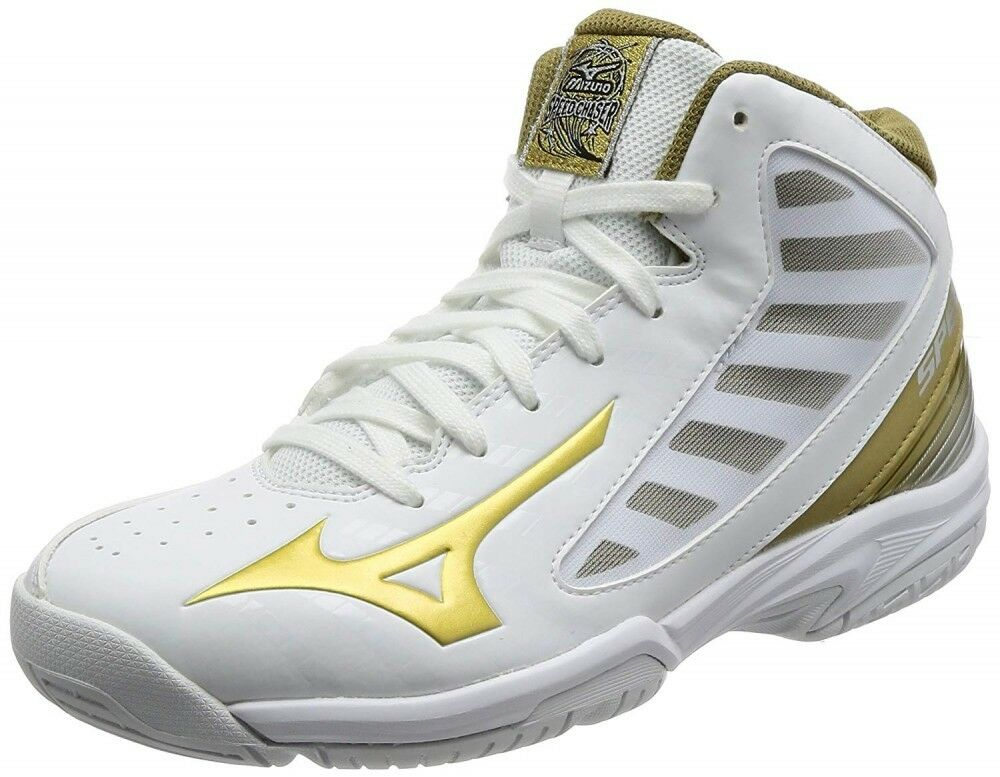 MIZUNO Junior Basketball shoes SPEED CHASER SL W1GC1760 White × gold