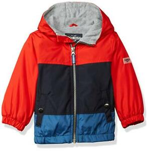 6f37b37cc Osh Kosh B gosh Toddler Boys Red   Blue Fleece Lined Jacket Size 2T ...