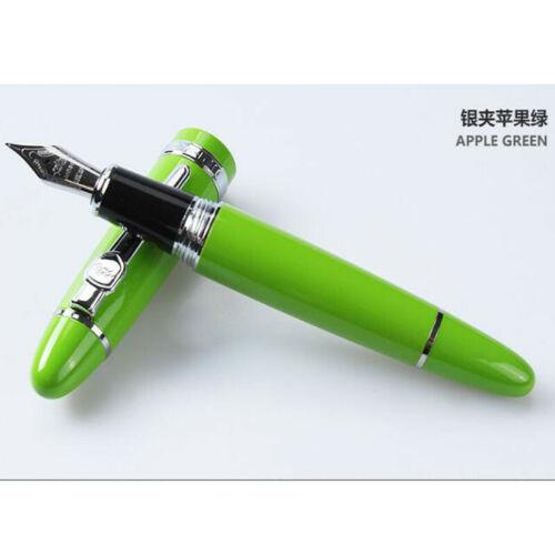 Jinhao 159 Smooth Metal Clip Fountain Pen Medium Fine Nib 0.5mm Writing Gift #Yo