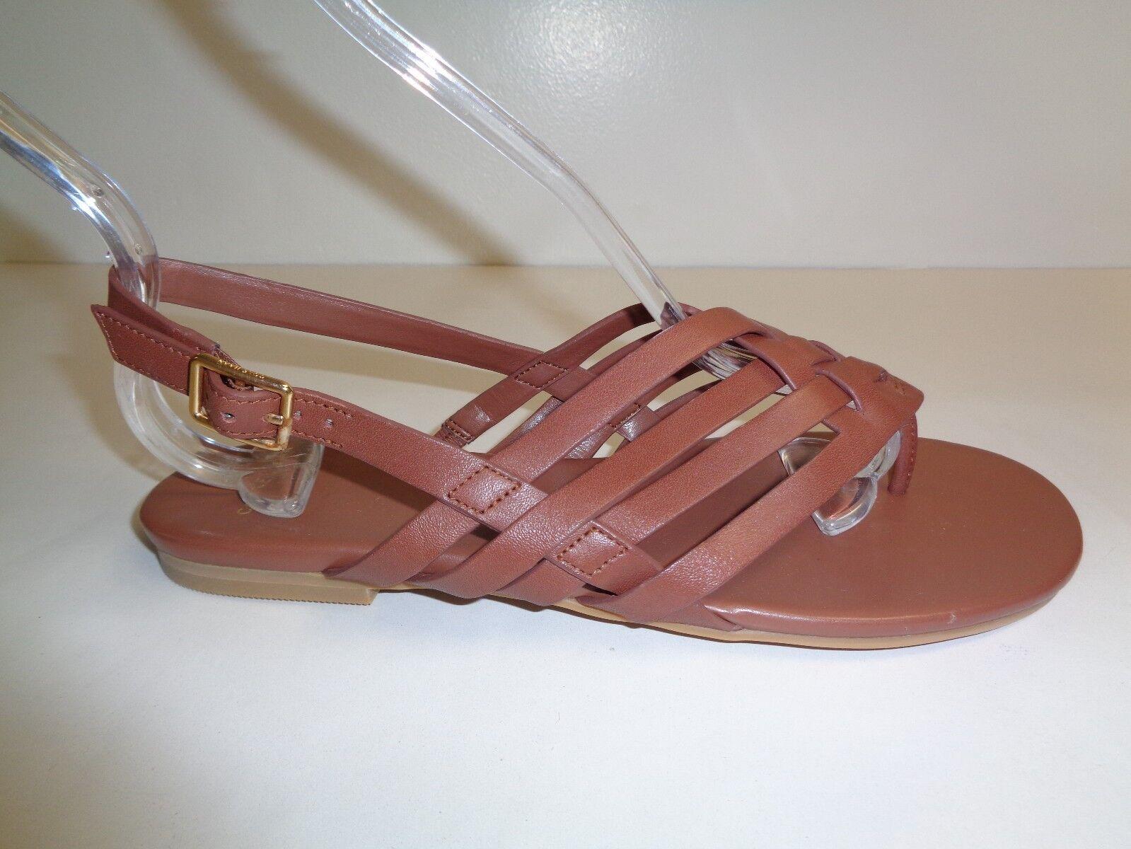 Cole Haan Größe 6 M GODDARD SANDAL Braun Leder Thongs Sandales NEU Damenschuhe Schuhes