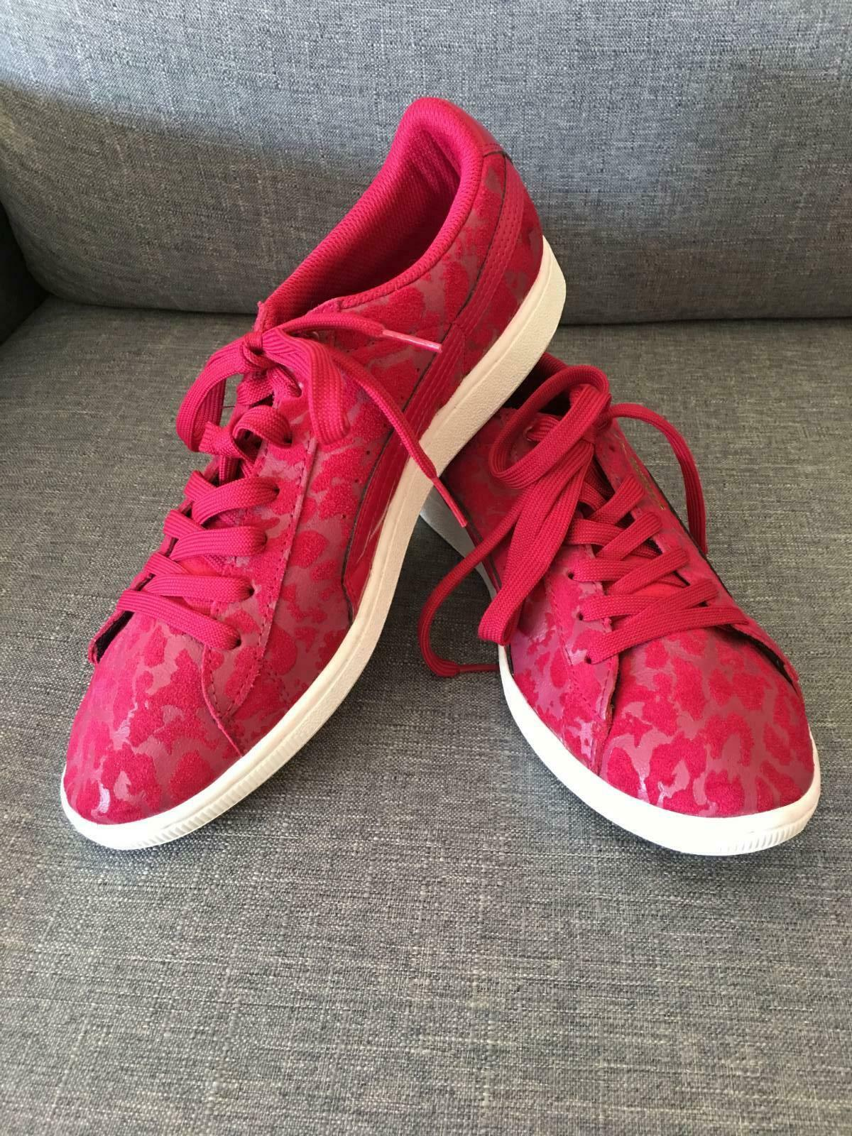 femmes Taille 11 rose Pattern Pumas - Excellent Condition