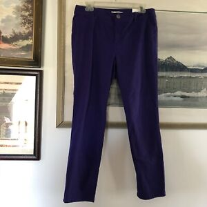 Chicos The Ultimate Fit Purple Slim Leg Ankle Pants Womens Sz 1 New A1532