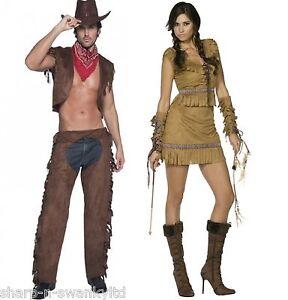 7bec72ad2a874 La imagen se está cargando Parejas-Damas-y-Hombres-Fever-Indios-y-Vaqueros-