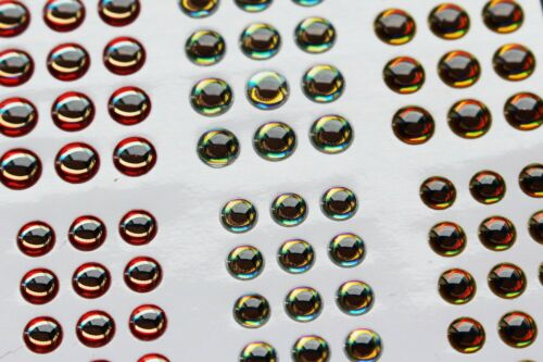 4 Sizes 2 Cards 366 pcs 3D fish eyes Realistic Holographic Lures Artificial eyes