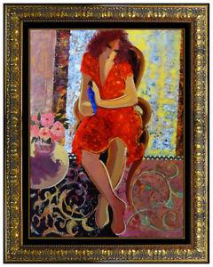 Mahmoud-SABZI-Original-OIL-PAINTING-on-CANVAS-Female-Signed-Large-Framed-Artwork