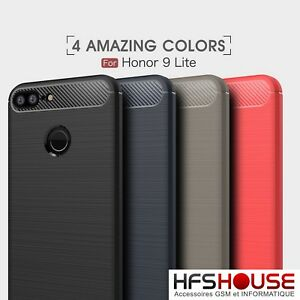 POUR-HUAWEI-HONOR-9-LITE-COQUE-HOUSSE-ETUI-CARBONE-SILICONE-GEL-CASE-COVER