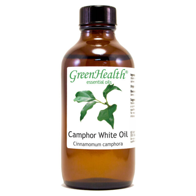 4 fl oz Camphor White Essential Oil (100% Pure & Natural) - GreenHealth