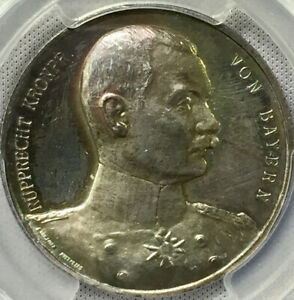 1914 German Empire Bavaria AR Kronprinz Rupprecht  Zetzmann 4014 PCGS SP62 MINTY