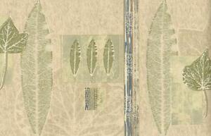 Wallpaper-Border-Modern-Leaves-Leaf-Pattern-Green-Blue-Tan-Beige