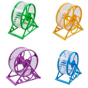 Wheel-Running-Exercise-Plastic-Scroll-Silent-Hamster-Mouse-Rat-Gerbil-Pet-Toy