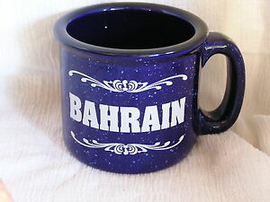 Bahrain-Large-Heavy-Ceramic-Blue-Speckled-Coffee-Tea-Mug-Cup-COOL